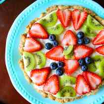 No-Bake Fruit Pizza (Dairy-Free, Gluten-Free)