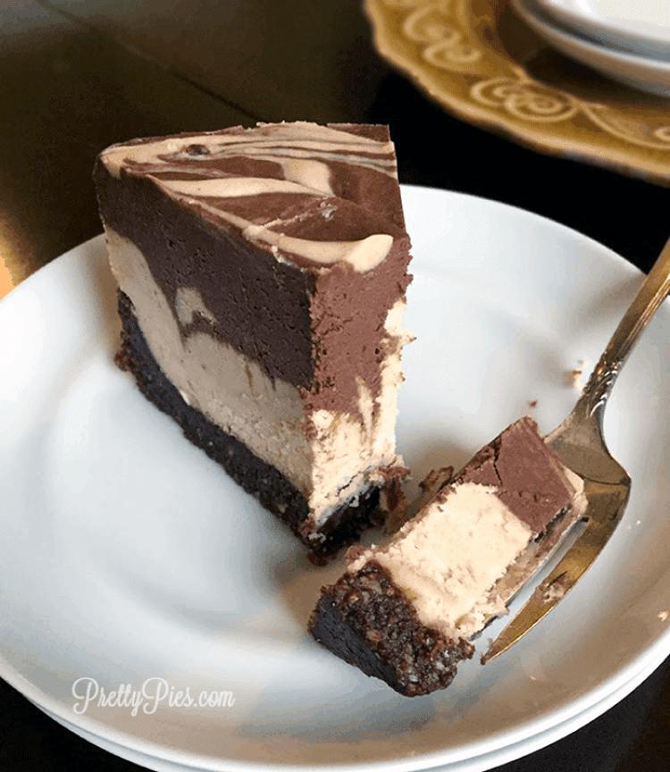 Peanut Butter Cup Cheesecake (Vegan, GF) PrettyPies.com