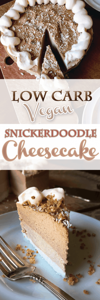 Low Carb Snickerdoodle Cheesecake