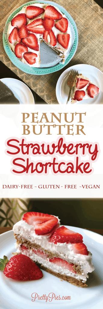 Peanut Butter Strawberry Shortcake (Grain-Free, Dairy-Free, No added sugar) PrettyPies.com