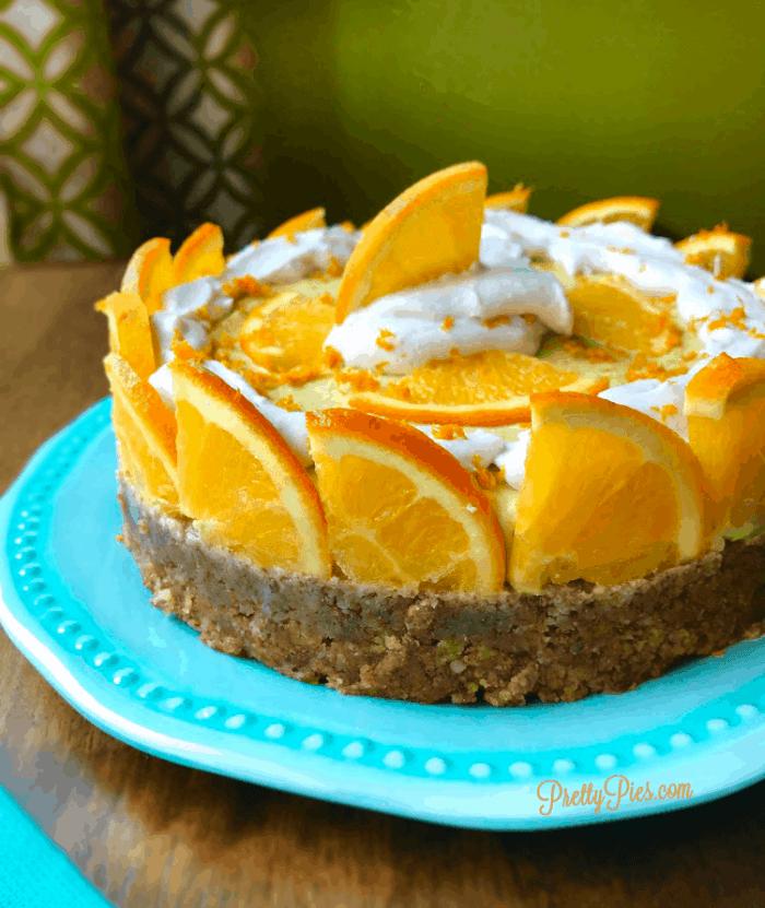 Orange Dreamsicle Cheesecake PrettyPies vegan/paleo