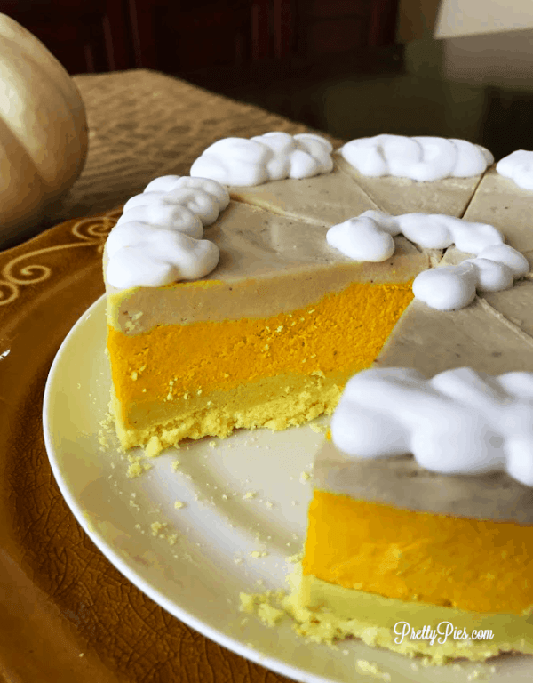 Candy Corn Cheesecake PrettyPies.com