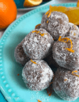 Orange Snowballs (Keto, Vegan, Paleo) PrettyPies.com