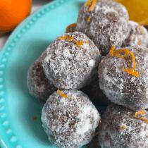 Orange Snowballs (Keto, Vegan, Paleo) PrettyPies.com