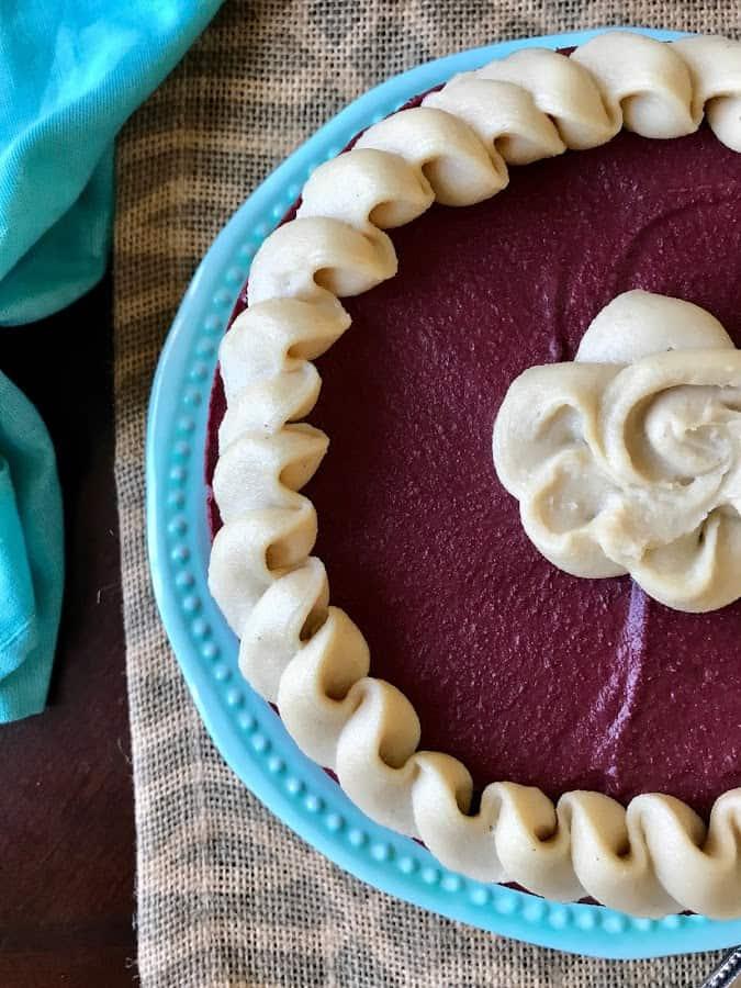 Red Velvet 'Cheesecake' from PrettyPies.com (Vegan, Paleo, Dye-Free)