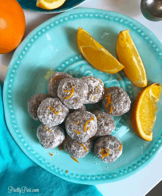 Easy Orange Cake Balls {Keto, Vegan, Paleo} - PrettyPies.com