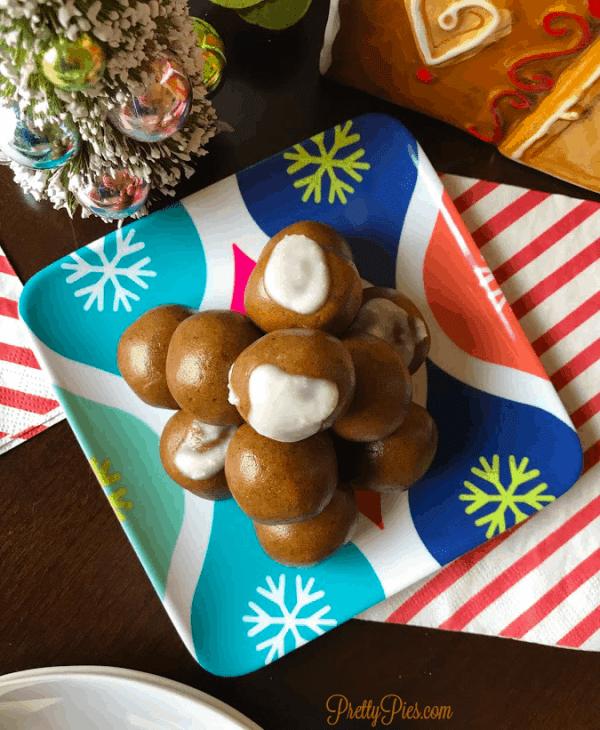 Quick Gingerbread Cake Balls (Vegan, Paleo) PrettyPies.com