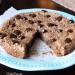 Flourless Chocolate Chip Cookie Pie (Vegan, Paleo) PrettyPies.com