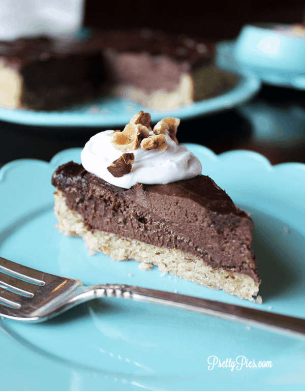 Nutella Pie (Vegan, Paleo, Keto) PrettyPies.com