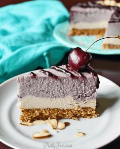 Cherry Almond Cheesecake (Vegan & Paleo) PrettyPies.com