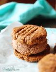 Keto PB Cookie ice cream sandwiches, PrettyPies.com