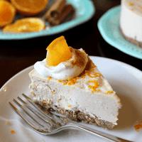 Orange Spice Cheesecake (Dairy/Gluten/Sugar-Free)