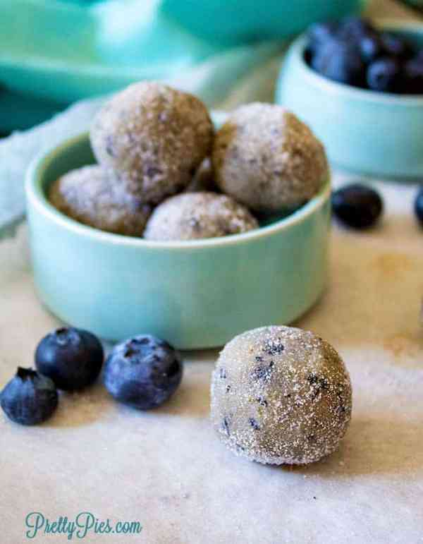 Blueberry Donut Holes (Keto, Paleo, Vegan) PrettyPies.com