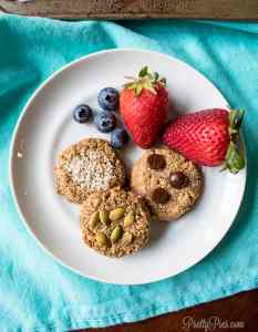 Vanilla Nut Breakfast Cookies (keto, paleo, vegan) PrettyPies.com