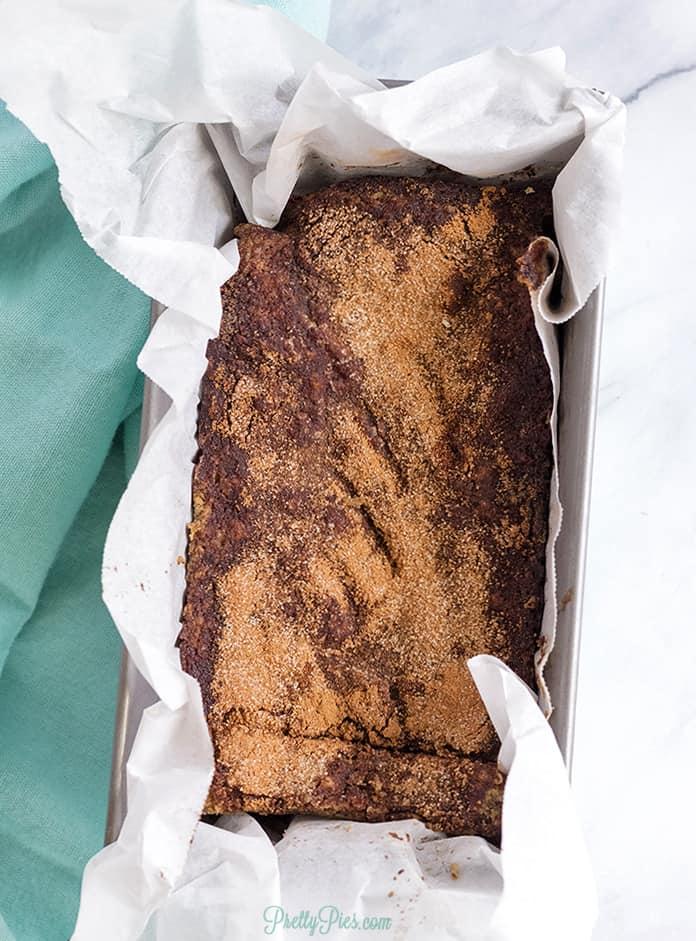 Cinnamon Bread (Low-Carb, Gluten-Free, Grain-Free, Dairy-Free, Egg-Free) PrettyPies.com