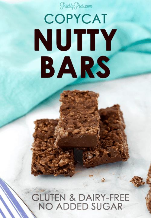 Nutty Bars (Gluten/Dairy/Sugar-Free, Vegan) PrettyPies.com