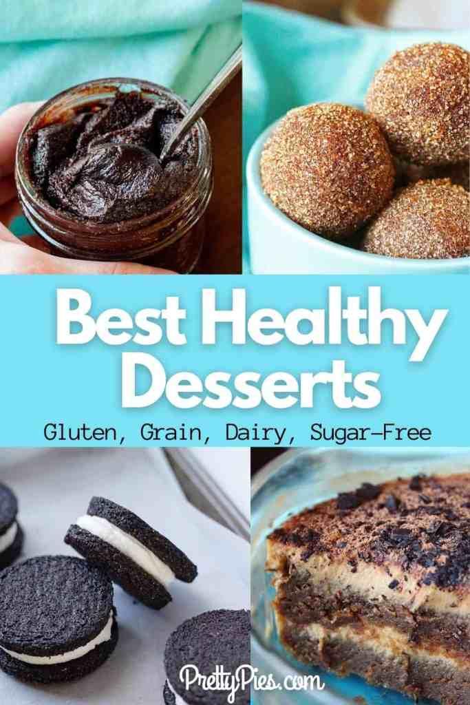 best healthy desserts: brownie batter, cinnamon sugar donut holes, keto oreos and dairy-free low-carb tiramisu