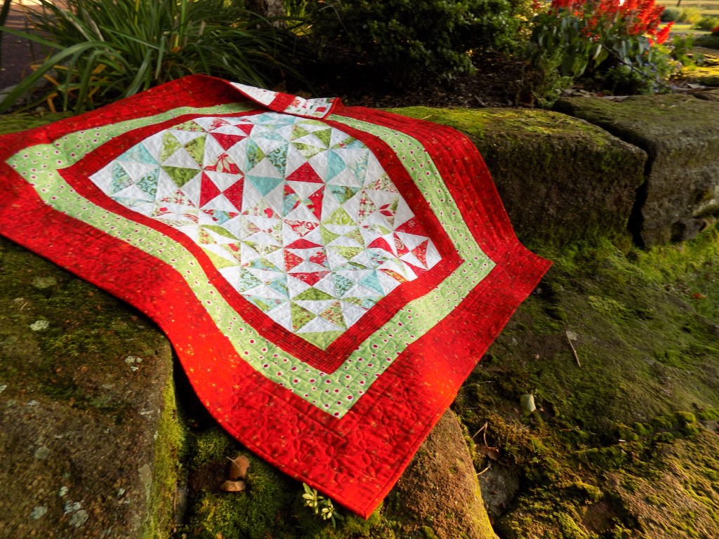 Broken Dishes Christmas Quilt