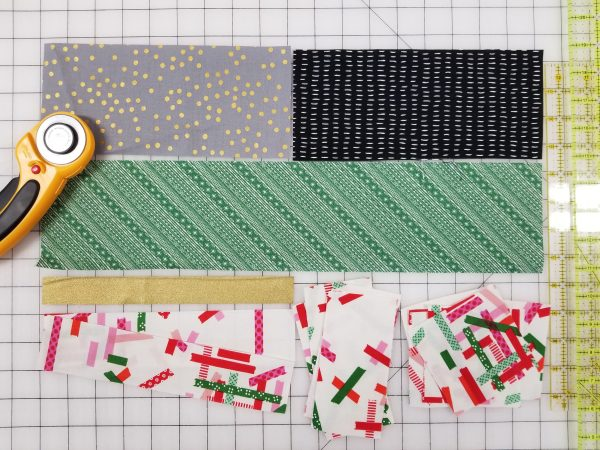 quilt-a-long block two fabric selections