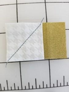 diagonal scarf piece step 1