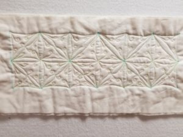 practice quilting on fabric
