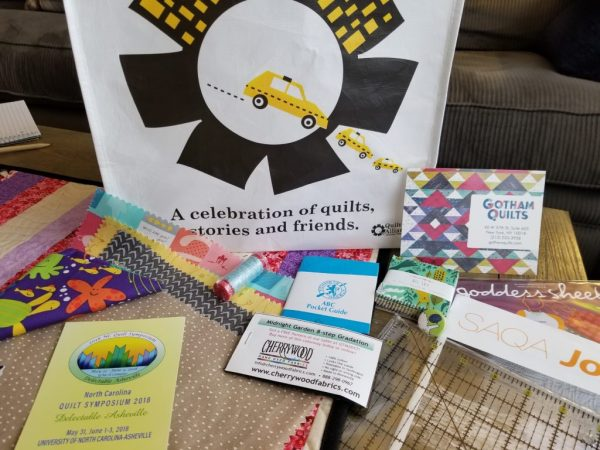 Quilters Take Manhattan 2017 swag