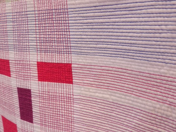 "Detail of ""Infused Plaid"" by Cassandra Beaver"
