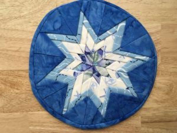 Folded Star Mat Mug Rug