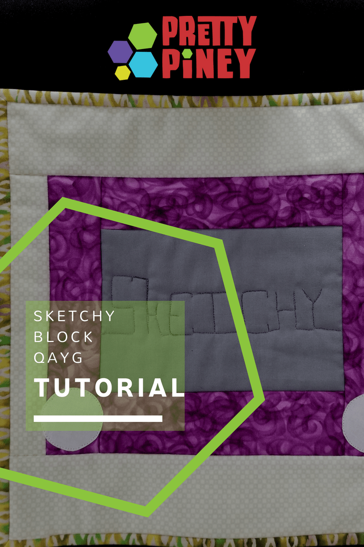Do you keep a quilt sandwich near your machine for practice stitching, quilting warm-ups, or checking out new threads? Do you feel bad about throwing it away when it fills up, but don't know what else to do with it? The Sketchy block will save the day!