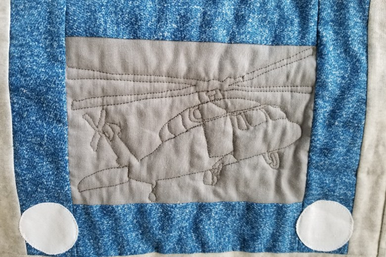 What I Made Monday Sketchy Quilt Blackhawk Helicopter