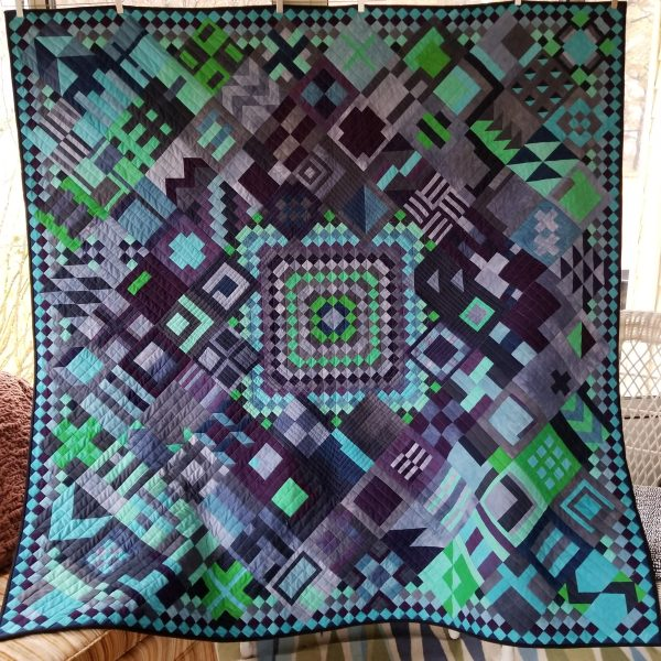 #100Days100Blocks2018 finished quilt