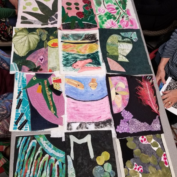 Matisse Art Quilt Sections