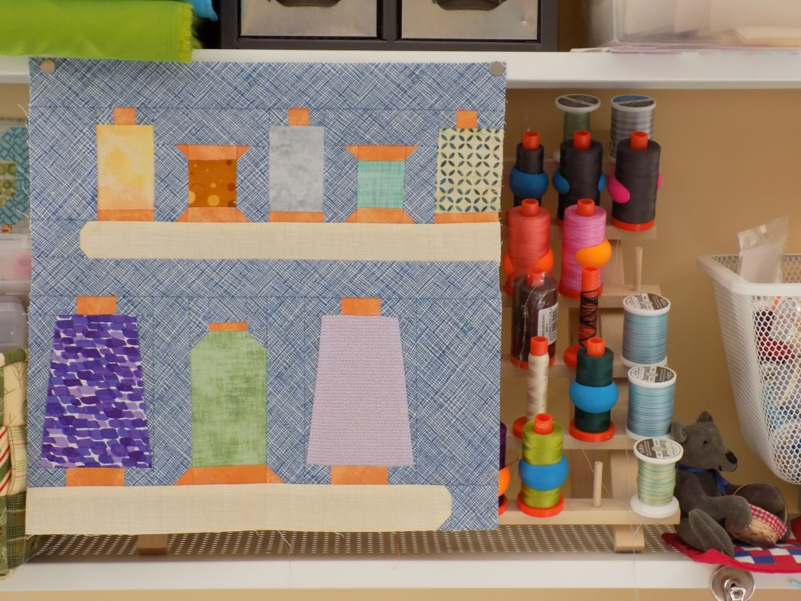 Sew Let's Quilt Along Block Four: Thread