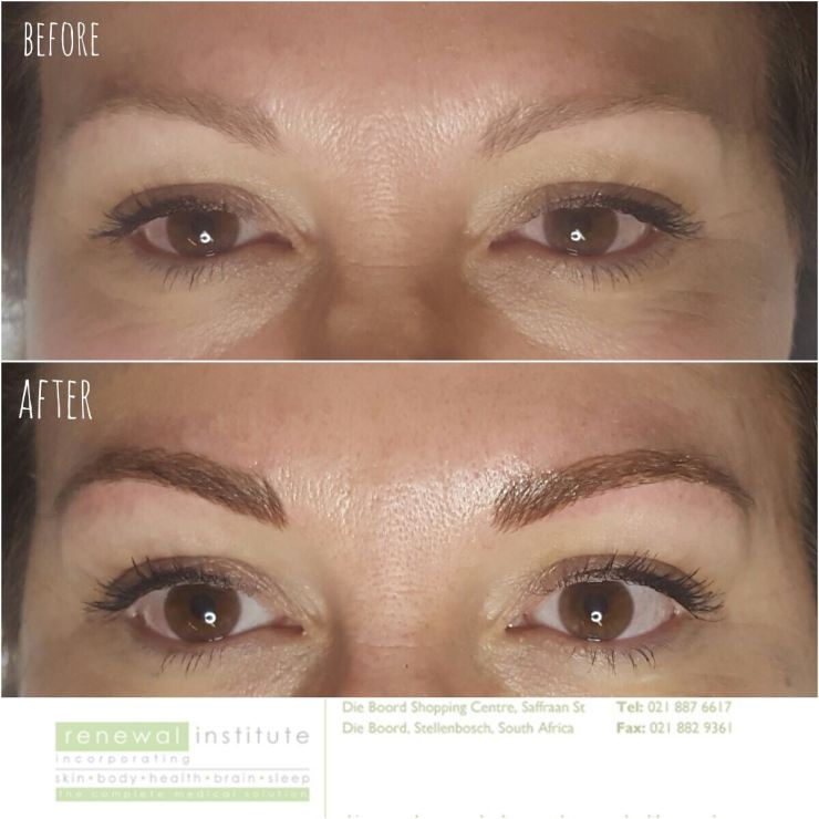 Microblading before and after Pretty Please Charlie
