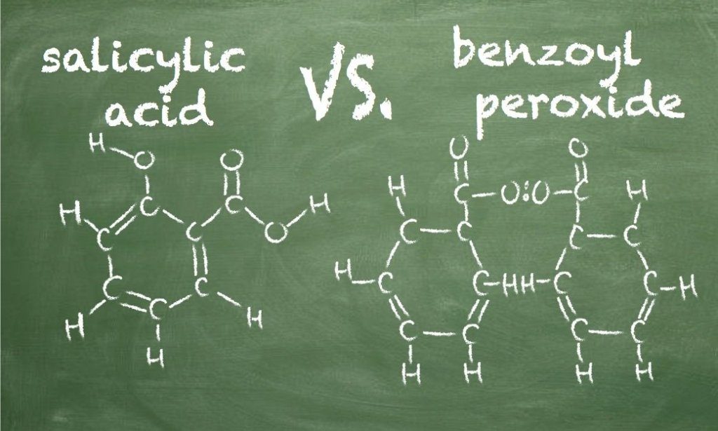difference between salicylic acid and benzoyl peroxide