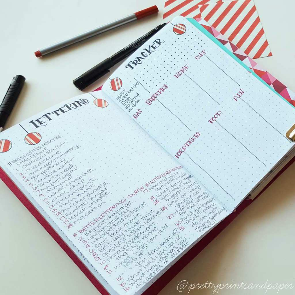 Trying to keep track of monthly expenses and habits? Try a organizing your bullet journal this way // www.prettyprintsandpaper.com