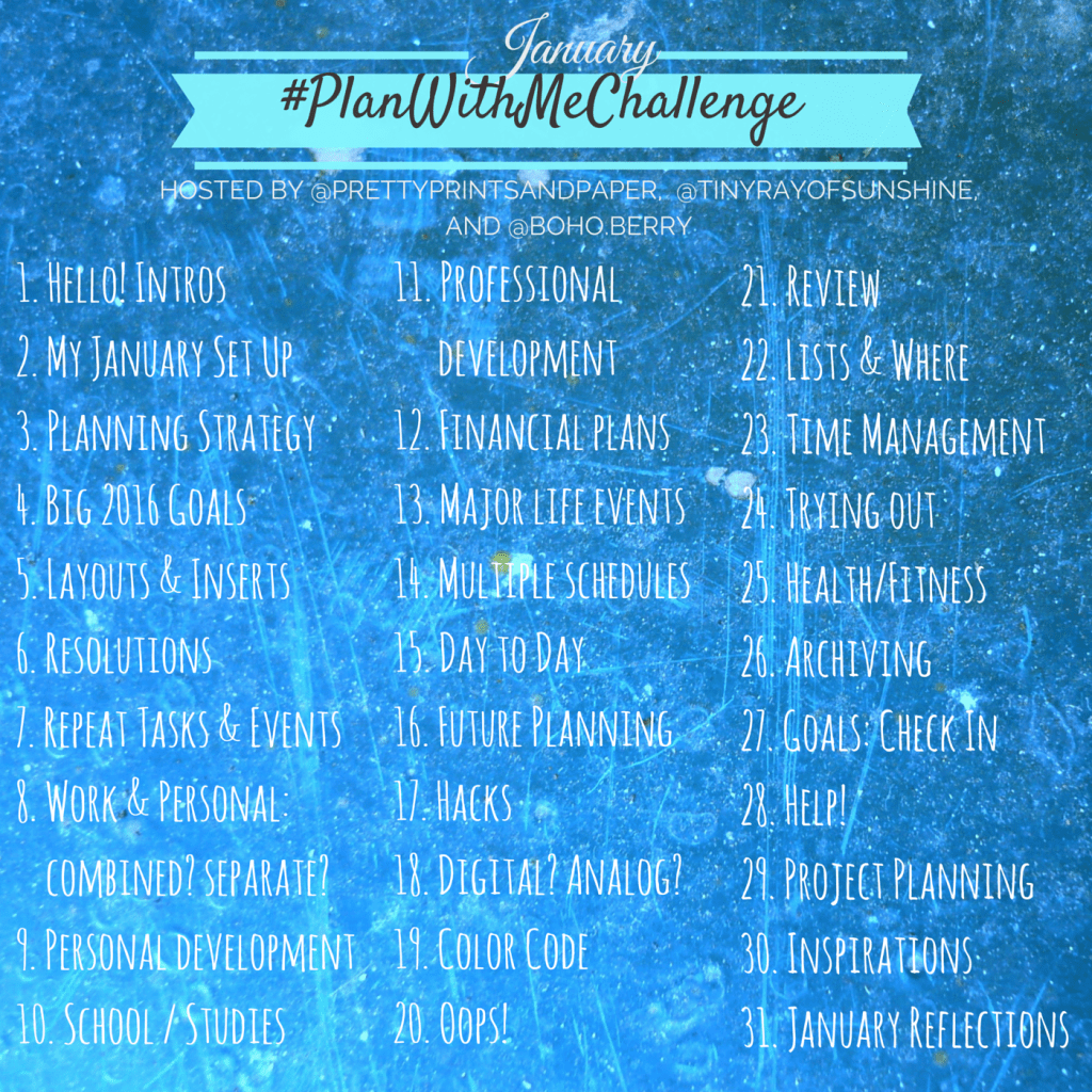 PlanWithMeChallenge January