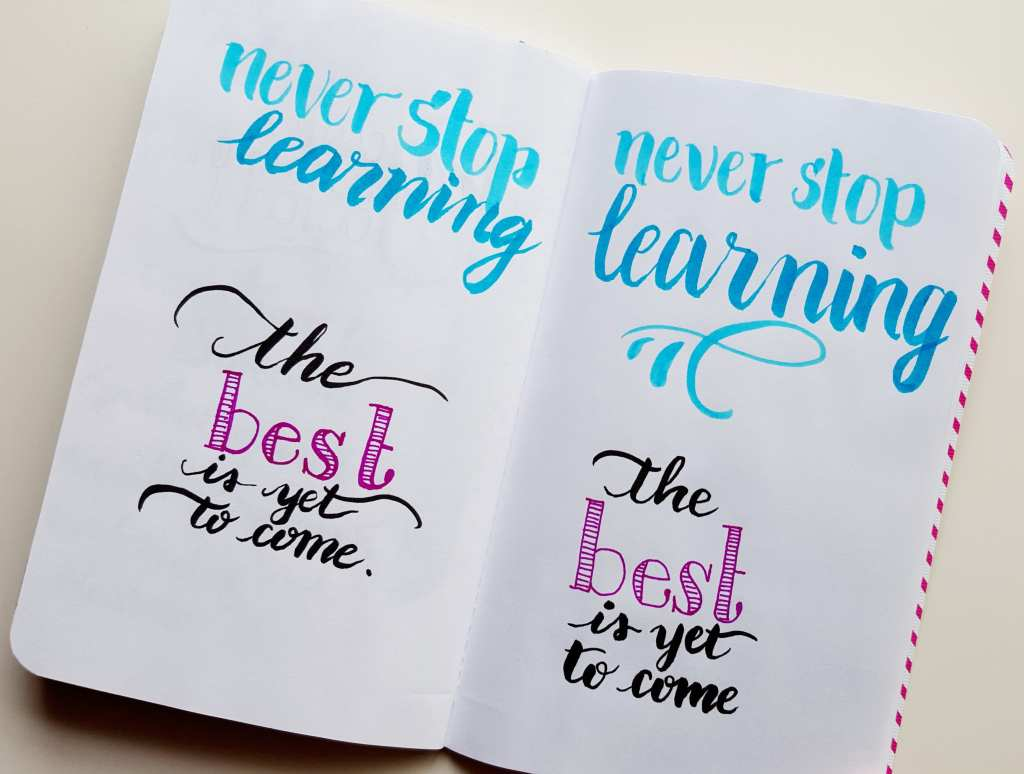 What lettering has taught me about intentionality // www.prettyprintsandpaper.com