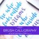 A peek at how a Sai brush pen writes a quote in modern calligraphy // www.prettyprintsandpaper.com