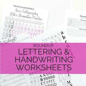 Looking to practice your handwriting, lettering, or calligraphy? Check out this list of my favorite worksheets to help you refine your craft // www.prettyprintsandpaper.com