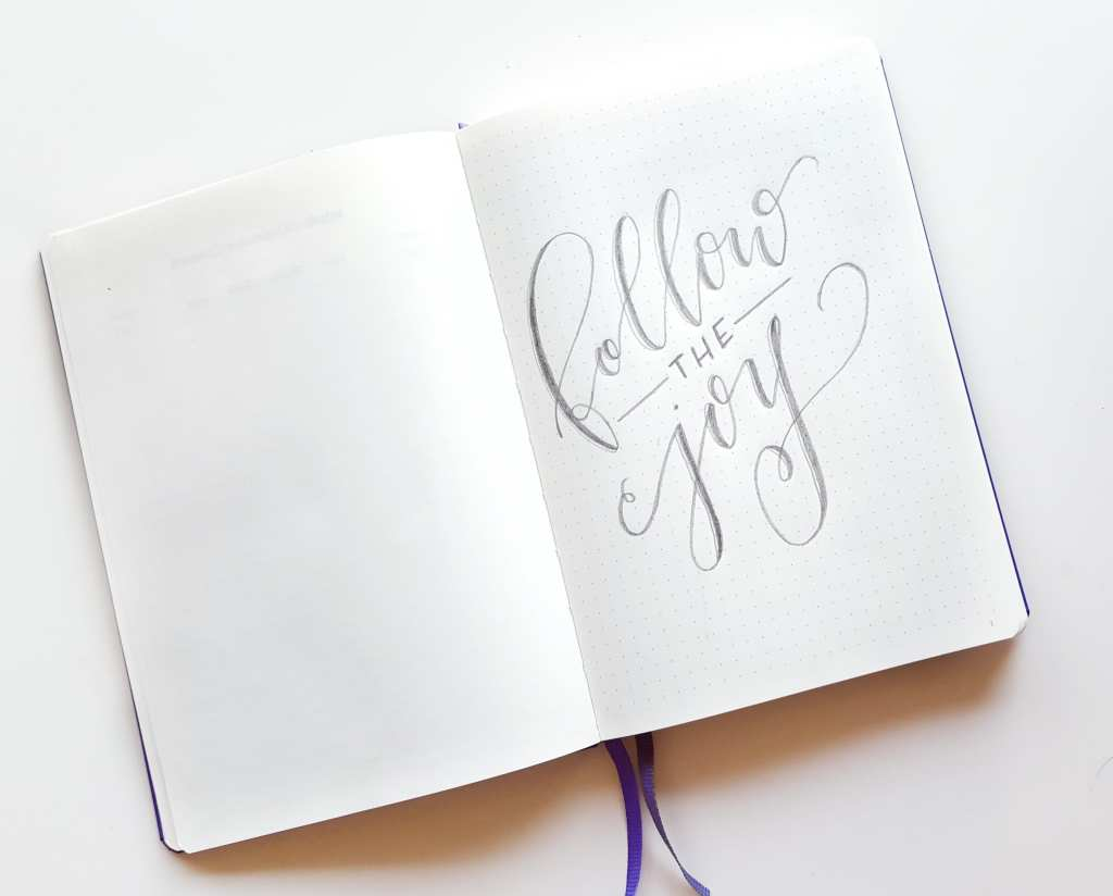 Some inspiration on the first page of my freelance bullet journal // www.prettyprintsandpaper.com