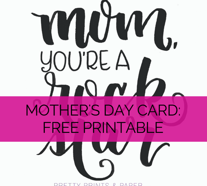 Buying cards is hard - download this free mother's day card printable on the blog! // www.prettyprintsandpaper.com