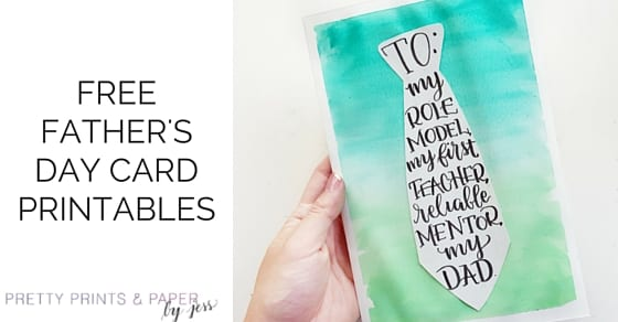 Free Father's Day card printables on the blog today!