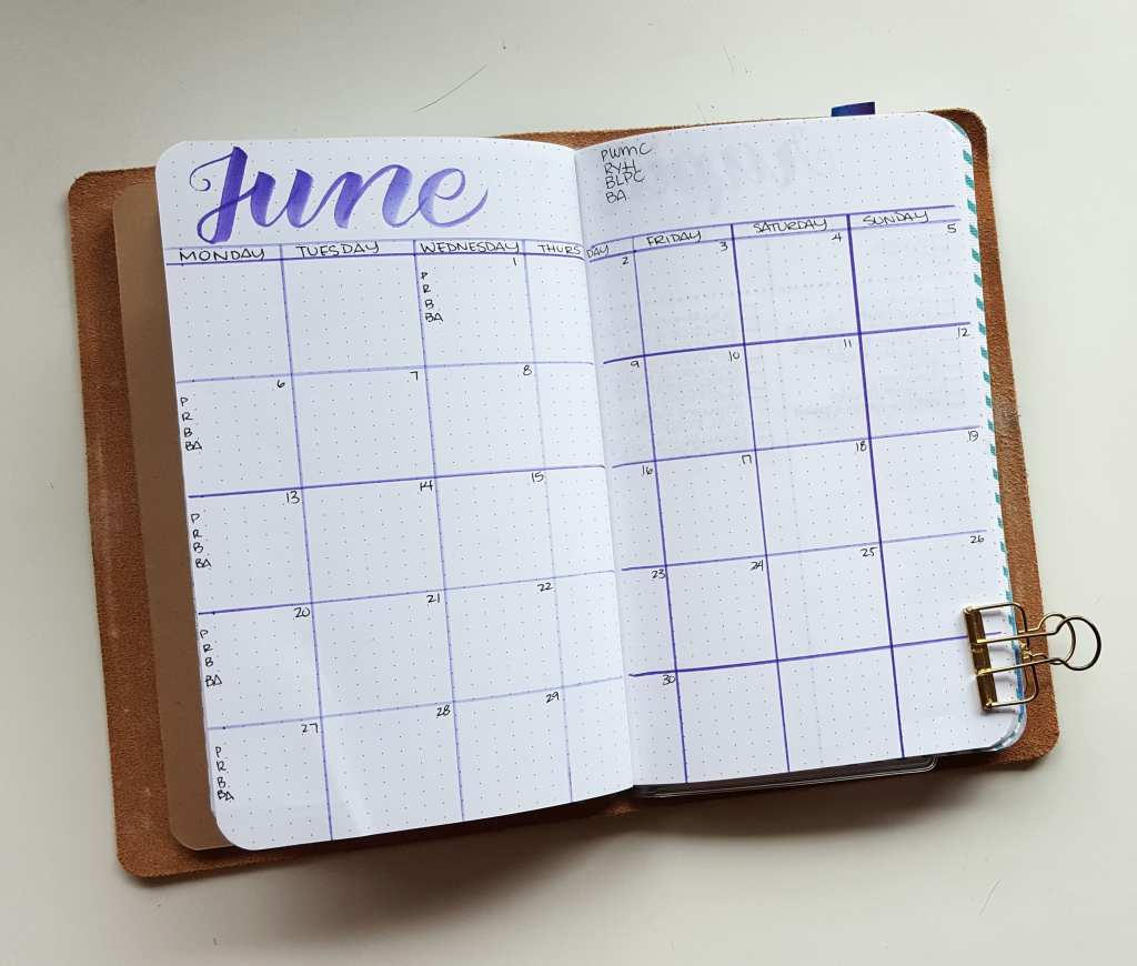 Monthly grids can be used for events, but they can also be used for tracking Instagram Challenges!