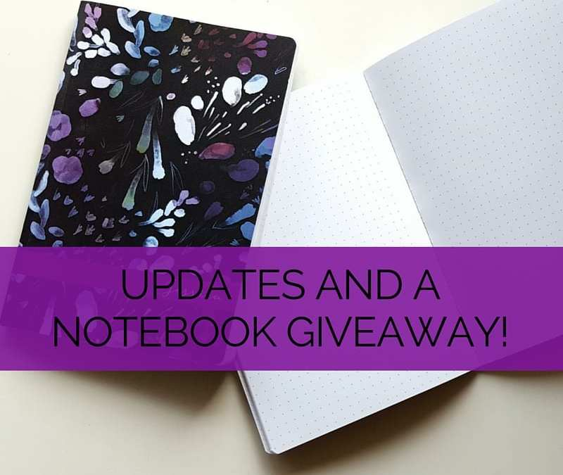 Another great option for a bullet journal - the Plum Paper dot grid notebook! Check out the blog for updates and your chance to win one // www.prettyprintsandpaper.com
