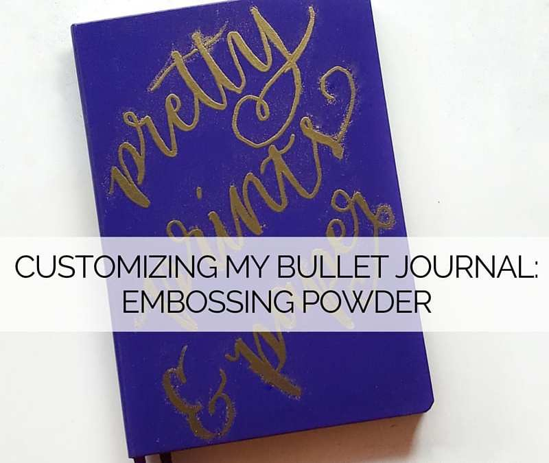 Emboss your notebook covers to personalize your bullet journal!