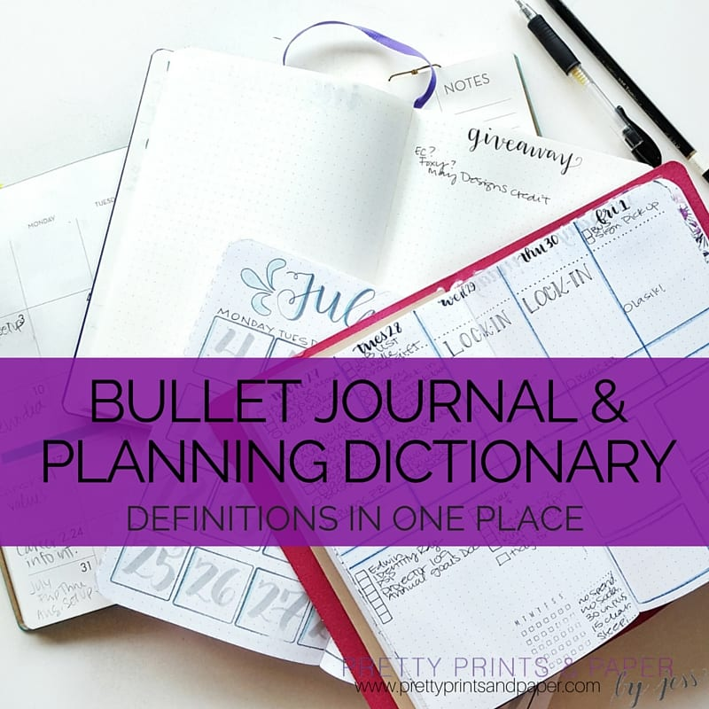 bullet journal dictionary