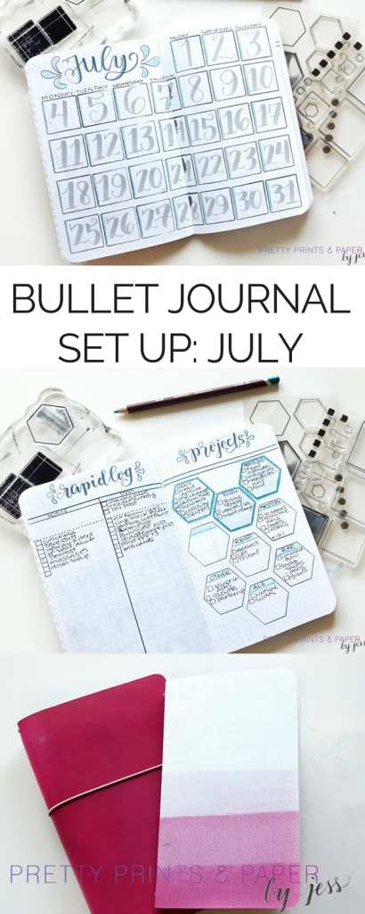 Check out how to incorporate stamps in your bullet journal setup this month