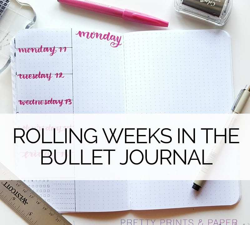 What is a rolling week and how can you use it in your bullet journal?