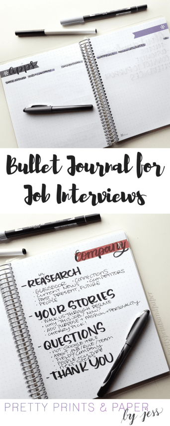 This is part two of my job search series as a follow up from Career Development - I offer some (a lot) of my thoughts on how you can prepare for job interviews and track your progress in your bullet journal.